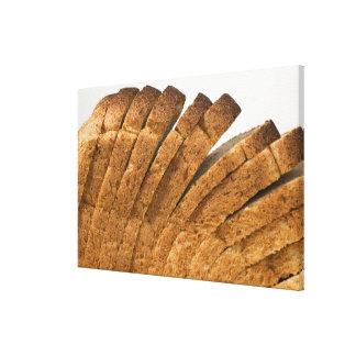 Barra de pan cortada lona envuelta para galerias
