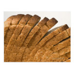 Barra de pan cortada postal