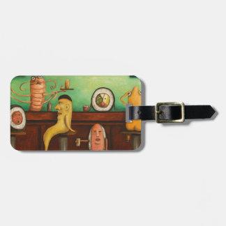 Barra de sushi etiqueta de equipaje