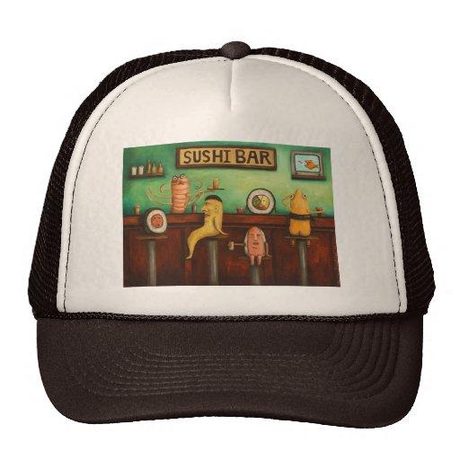Barra de sushi gorras de camionero