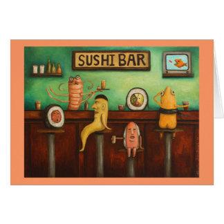 Barra de sushi tarjeta de felicitación