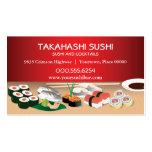Barra de sushi tarjeta de visita