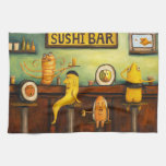 Barra de sushi toallas de mano