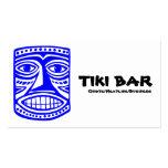 Barra de Tiki - azul, negro y blanco Tarjetas De Visita