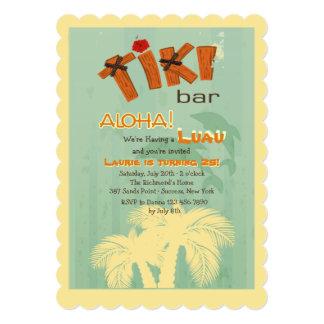 Barra de Tiki con la invitación de los delfínes Invitación 12,7 X 17,8 Cm