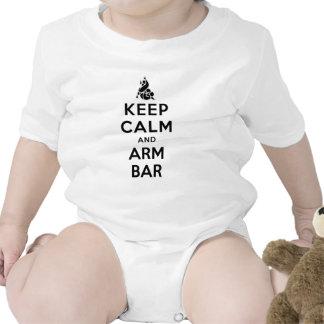 barra del brazo del keepcalmand trajes de bebé