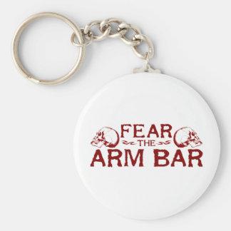 Barra del brazo llavero redondo tipo pin