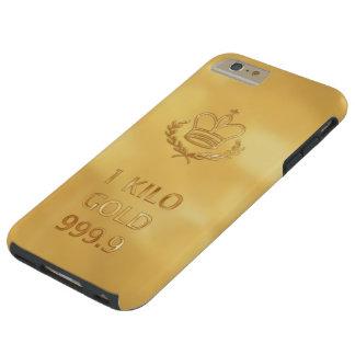 Barra del lingote de oro funda de iPhone 6 plus tough