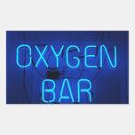 Barra del oxígeno rectangular pegatinas