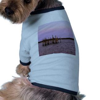 Barra del pelícano camiseta con mangas para perro