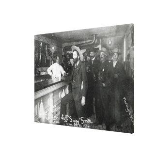 Barra del salón de Smith jabonoso Impresión En Lienzo