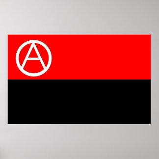 barra el poster de la bandera del anarquista
