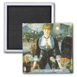 Barra en el Folies-Bergere, Manet, bella arte del Imán Cuadrado