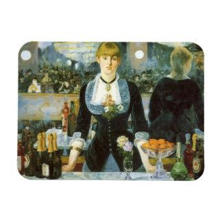 Barra en el Folies-Bergere, Manet, bella arte del Iman Rectangular