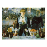 Barra en el Folies-Bergere, Manet, bella arte del Impresiones