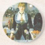 Barra en el Folies-Bergere, Manet, bella arte del Posavasos Diseño