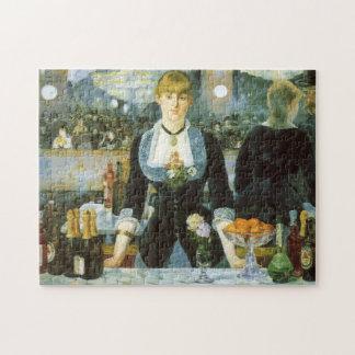 Barra en el Folies-Bergere, Manet, bella arte del Puzzles Con Fotos