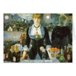 Barra en el Folies-Bergere, Manet, bella arte del Tarjeton