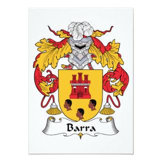 Barra Family Crest Personalized Invite