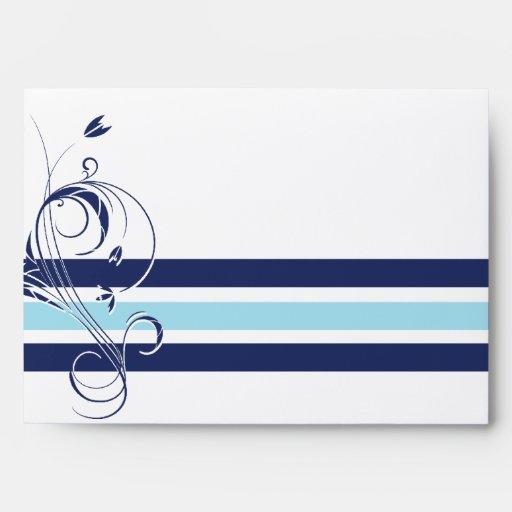 Barra floral azul y blanca