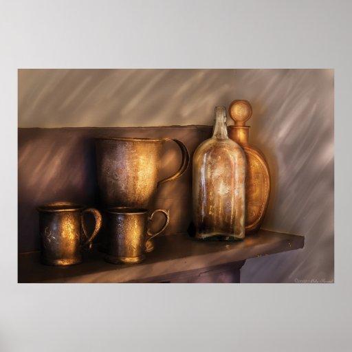 Barra - instrumentos del whisky impresiones