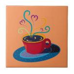Barra Klatch del té del amor de la taza de café de Tejas