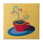 Barra Klatch del té del amor de la taza de café de Teja