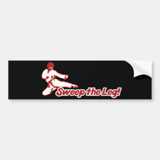 Barra la parodia del karate de la pierna 80s etiqueta de parachoque