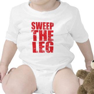 Barra la pierna trajes de bebé