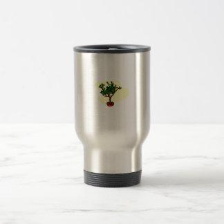 Barra los bonsais florecientes del estilo gráficos taza de viaje de acero inoxidable