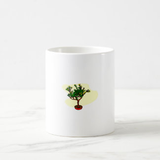 Barra los bonsais florecientes del estilo gráficos taza básica blanca