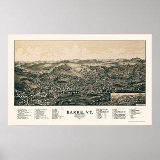 Barra, mapa panorámico del VT - 1891 Poster