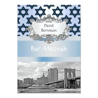 """Barra Mitzvah #2 del puente de Brooklyn del Invitación 5"""" X 7"""""""