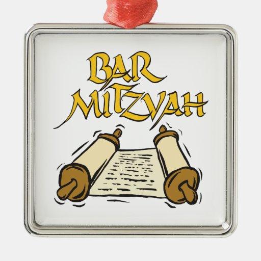 Barra Mitzvah Adorno Navideño Cuadrado De Metal