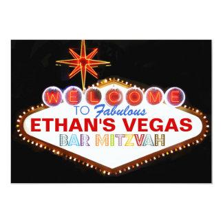 Barra Mitzvah de PixDezines Las Vegas Invitación 12,7 X 17,8 Cm