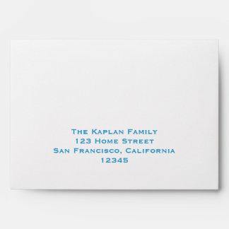 Barra Mitzvah de Samuel RSVP que casa árboles azul