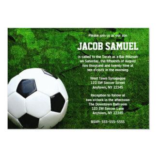 Barra Mitzvah del balón de fútbol Invitación 12,7 X 17,8 Cm