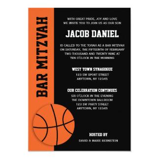 """Barra Mitzvah del baloncesto Invitación 5"""" X 7"""""""