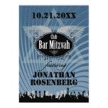 Barra Mitzvah del club en azul Invitación 12,7 X 17,8 Cm