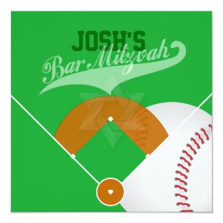 Barra Mitzvah del diamante de béisbol de Invitación 13,3 Cm X 13,3cm