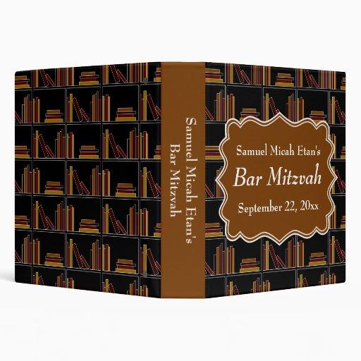 """Barra Mitzvah del diseño del estante de Brown Carpeta 1 1/2"""""""