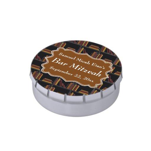 Barra Mitzvah del diseño del estante de Brown Frascos De Caramelos