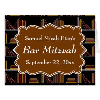Barra Mitzvah del diseño del estante de Brown Tarjeta De Felicitación Grande