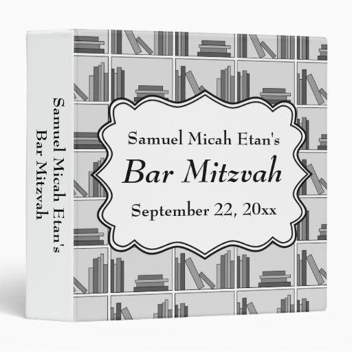 """Barra Mitzvah del diseño del estante de librería Carpeta 1 1/2"""""""