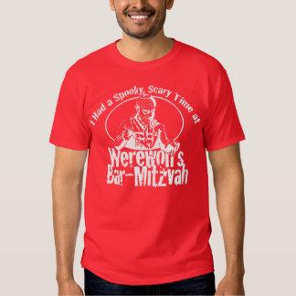Barra Mitzvah del hombre lobo Remeras