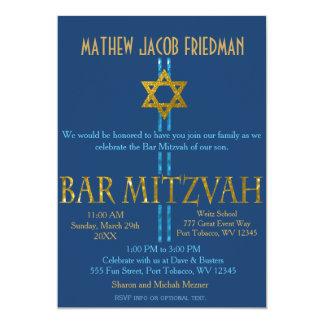 """Barra Mitzvah Invitación 5"""" X 7"""""""