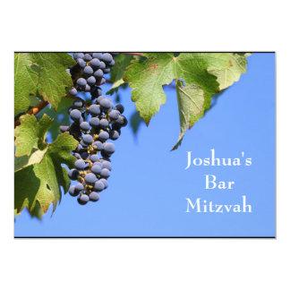 Barra Mitzvah/invitación de Mitzvah del palo Invitación 12,7 X 17,8 Cm