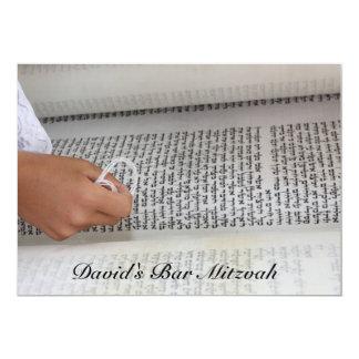 """Barra Mitzvah/palo Mitzvah Invitación 5"""" X 7"""""""