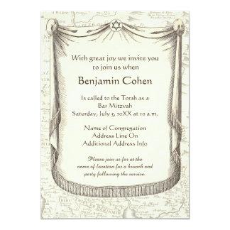 Barra Mitzvah para un muchacho nombrado Benjamin Invitación 12,7 X 17,8 Cm