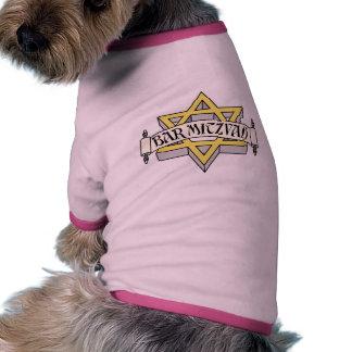 Barra Mitzvah Camiseta Con Mangas Para Perro